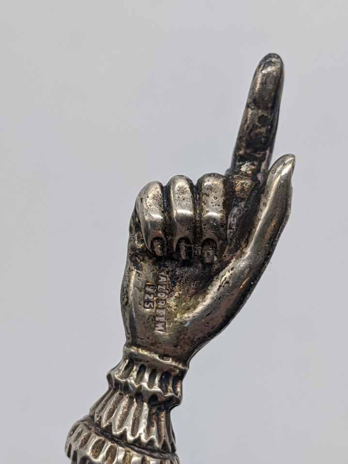 An Israeli silver yad with chain, L.28cm - Image 2 of 2