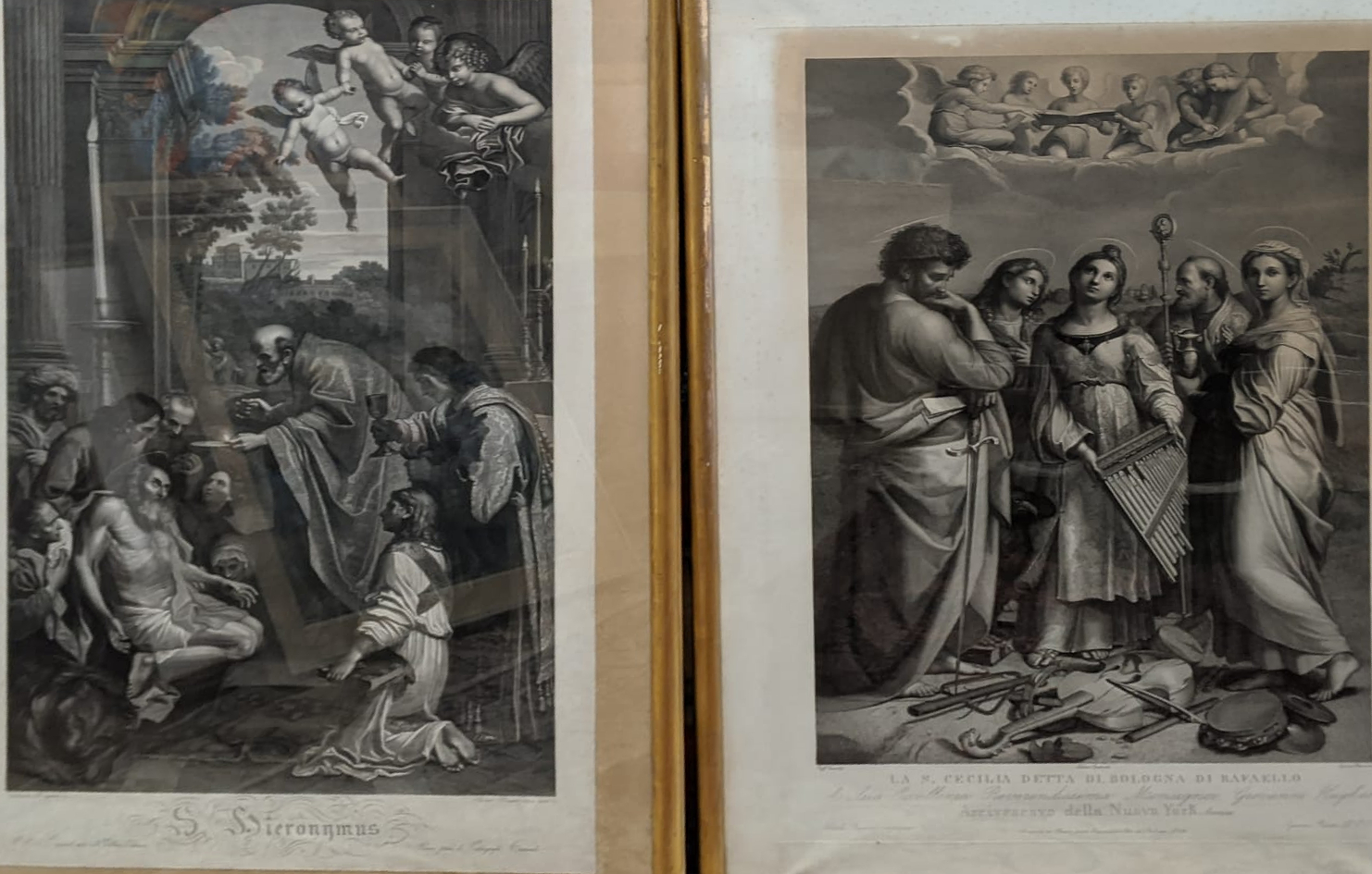 A pair of early 19th century engravings to include Ignazio Pavon (Italian, 1790-1858) and Adriano