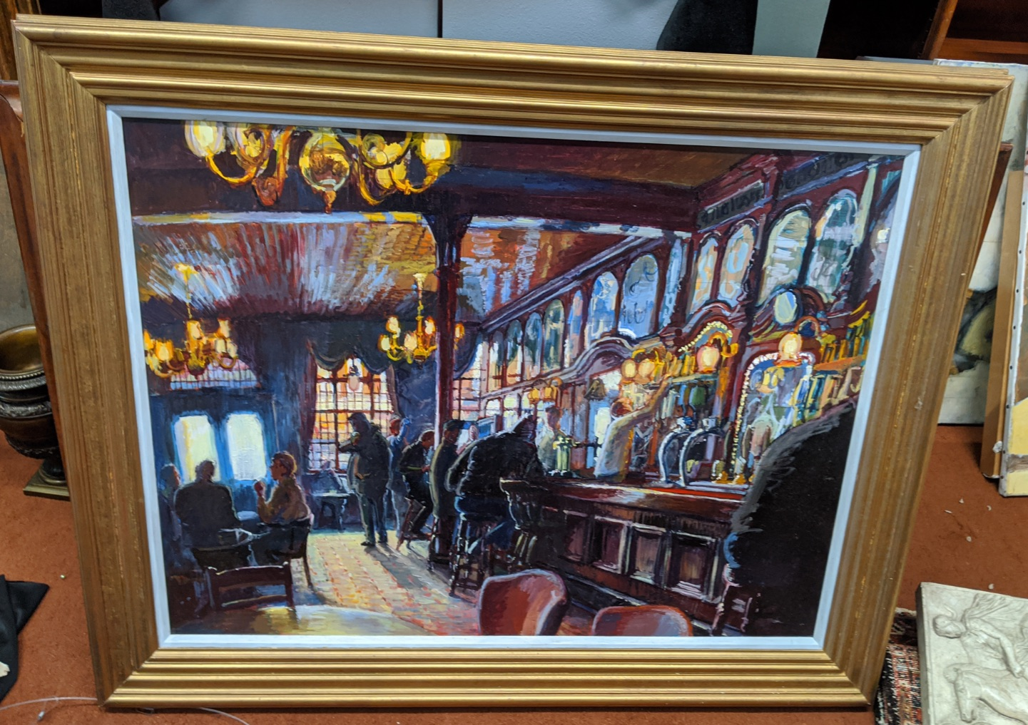 Gary Jeffrey (Contemporary British), The Spread Eagle Pub, Wandsworth, oil on board, H.66cm W.86.5cm - Image 2 of 3