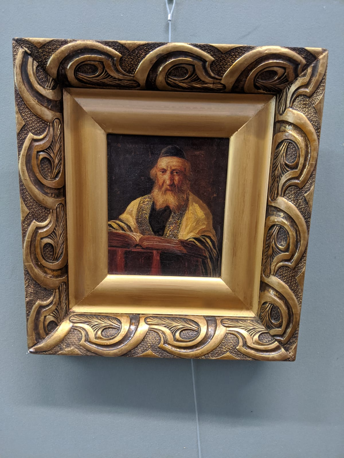 Jose Schneider (American/Spanish, 1848-1893), Rabbi Studying and Rabbi, oils on canvas, both - Image 2 of 7