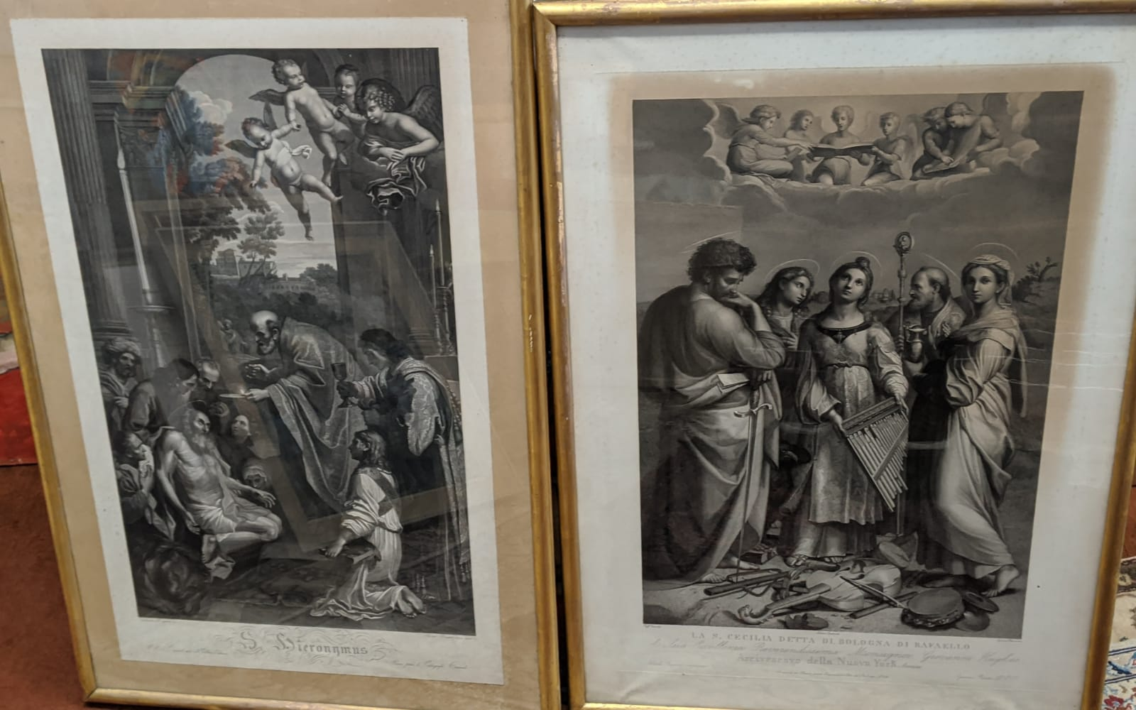 A pair of early 19th century engravings to include Ignazio Pavon (Italian, 1790-1858) and Adriano - Image 2 of 2
