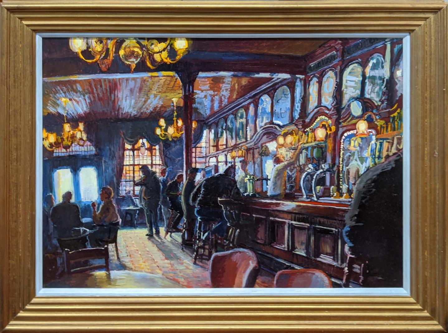 Gary Jeffrey (Contemporary British), The Spread Eagle Pub, Wandsworth, oil on board, H.66cm W.86.5cm - Image 3 of 3