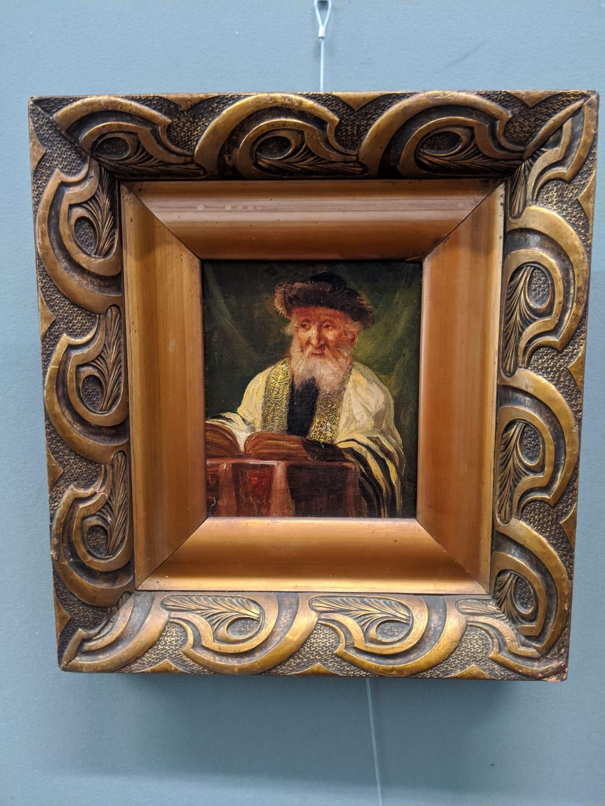 Jose Schneider (American/Spanish, 1848-1893), Rabbi Studying and Rabbi, oils on canvas, both - Image 6 of 7