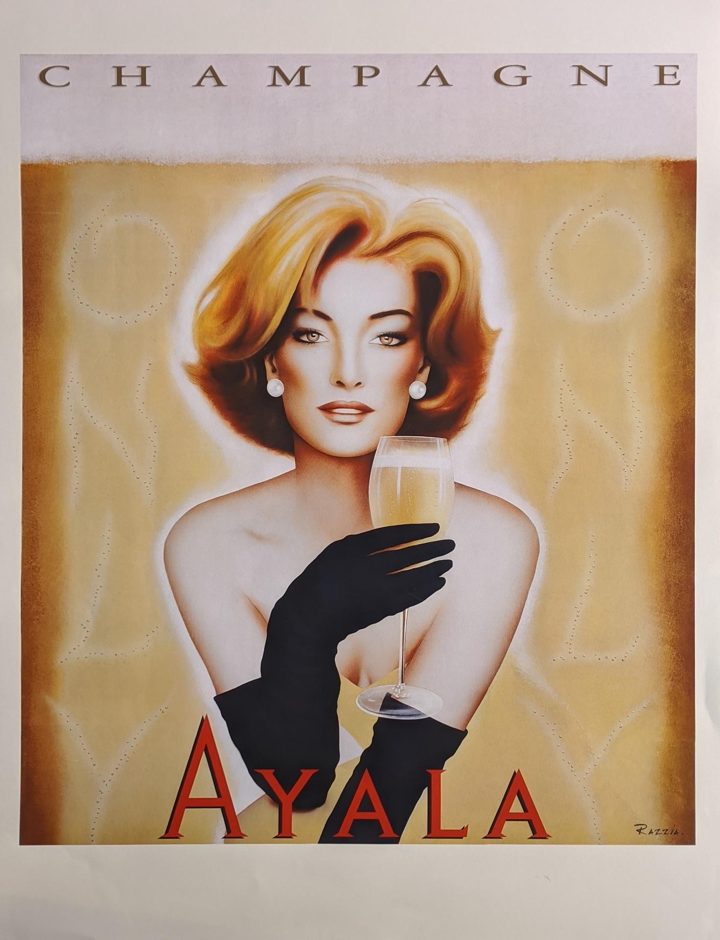Ayala champagne poster 70cm x 50cm