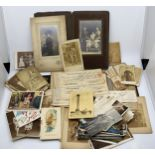A large collection of photographs, postcards & bank notes. Military Interest. (Qty)