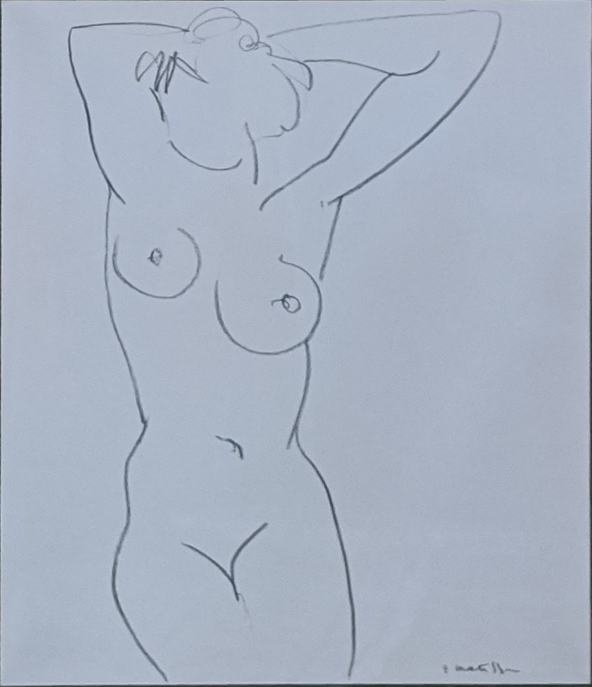 Henri Mattisse (French, 1859-1954), Nude Study, lithograph on paper, signed lower right in the