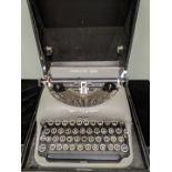 A Remington Rand No.5 De Luxe Hebrew typewriter, with original case, 1950s, EB132880