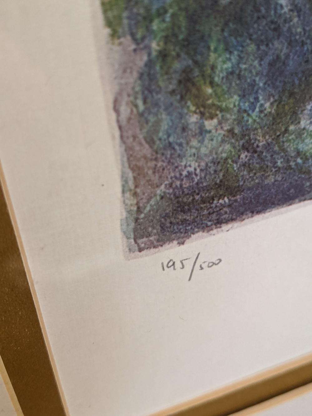 After Marc Chagall (1887-1985), Sur La Route Du Village, lithographic print, signature within print, - Image 2 of 2