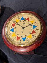 An RAF sector clock, mahogany case, single fusee movement, later model