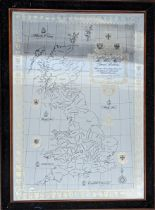 The Silver Map of Great Britain with the boundary lines and Coats of Arms of the Historic