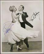 Foto mit Autogrammen von Astaire und Rogers