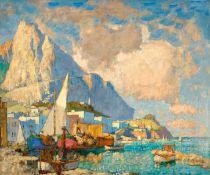 KONSTANTIN IVANOVICH GORBATOFF(Stavropol 1876–1945 Berlin)Ansicht von Capri.Öl auf Leinwand.Unten