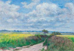 VICTOR ALFRED PAUL VIGNON(Villers–Cotterêts 1847–1909 Meulan)Le chemin de la Plaine à Fontenelle. Um