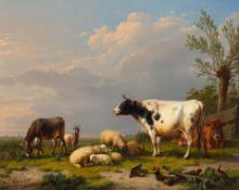 EUGÈNE JOSEPH VERBOECKHOVEN(Warneton 1799–1881 Brüssel)Landschaft mit Schafherde, Kühen, Esel und