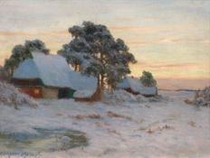PAUL MÜLLER-KAEMPFF(Oldenburg 1861–1941 Berlin)Winterlandschaft.Öl auf Leinwand.Unten links