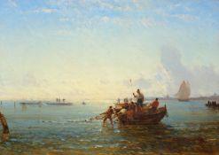 FÉLIX FRANÇOIS ZIEM(Beaune 1821–1911 Paris)Venise - pêcheurs tirant leurs filets.Öl auf Leinwand.