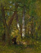 NARCISSE VIRGILIO DIAZ DE LA PEÑA(Bordeaux 1807–1876 Menton)Intérieur de forêt. 1864.Öl auf Holz.