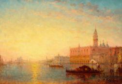 CHARLES-CLÉMENT CALDERON(1870 Paris 1906)Ansicht von Venedig.Öl auf Leinwand.Unten rechts