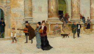 FEDERICO DEL CAMPO(Lima 1837–1923 London)After the concert. 1877.Öl auf Holz.Unten rechts