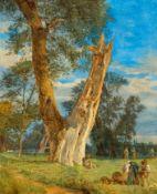 FERDINAND GEORG WALDMÜLLER(Wien 1793–1865 Helmstreitmühle)Parthie aus dem Prater. 1833.Öl auf Holz.