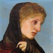 ARNOLD BÖCKLIN(Basel 1827–1901 San Domenico bei Fiesole)Büssende Maria Magdalena. 1895.Tempera auf