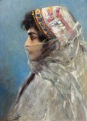 WILHELM KUHNERT(Oppeln 1865–1926 Flims)Porträt einer orientalischen Tänzerin. 1898.Öl auf