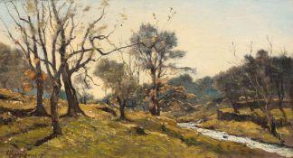 HENRI-JOSEPH HARPIGNIES(Valenciennes 1819–1916 Saint Privé)Le Ruisseau. 1896.Öl auf Leinwand.Unten