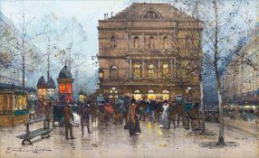 EUGÈNE GALIEN-LALOUE(Paris 1854–1941 Chérence)Sortie du théâtre de l'Ambigu-Comique, Boulevard Saint