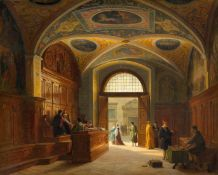 HEINRICH HANSEN(1821 Frederiksberg 1890)Alltag im Nürnberger Rathaus. 1872.Öl auf Leinwand auf