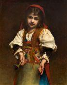 ÉTIENNE ADOLPHE PIOT(c. 1825 Digoin c. 1910)Bildnis eines jungen Mädchens in Tracht.Öl auf