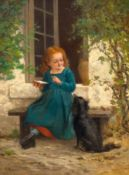 LUDWIG KNAUS(Wiesbaden 1829–1910 Berlin)Der hungrige Kamerad.Öl auf Leinwand.Unten links signiert: