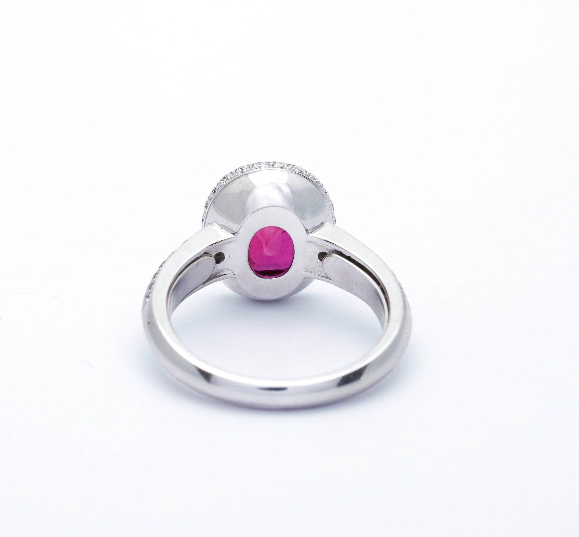 BURMA RUBY AND DIAMOND RING, BY PÉCLARD. - Image 8 of 9