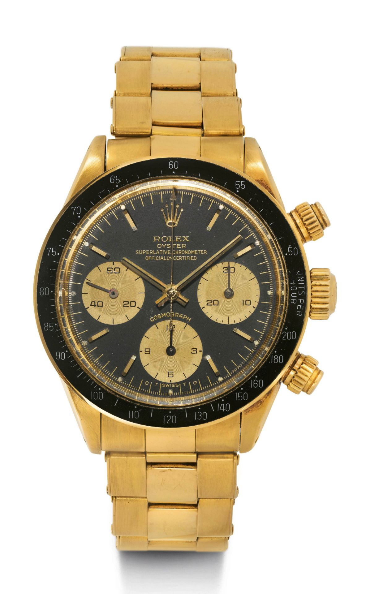 """Rolex, extremely rare cosmograph with original warranty certificate and """"Sigma"""" dial, 1987."""