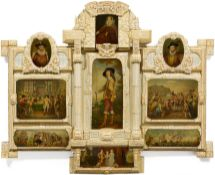 LARGE PICTORIAL PANEL WITH SCENES FROM THE HISTORY OF ENGLAND