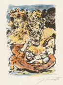 Lovis Corinth – Der Fuchs liegt auf dem Boden