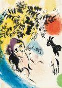 Marc Chagall – Les Amoureux au soleil rouge