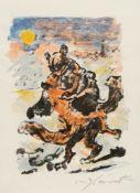 Lovis Corinth – Zwei sich umschlingende Füchse