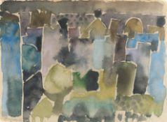 "Eduard Bargheer – Recto: ""Scirocco"" / Verso: Landschaft"