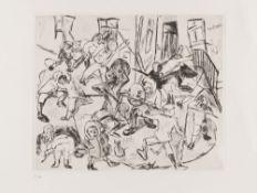 Max Beckmann – Spielende Kinder (Breitformat) aus: Gesichter