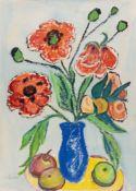 Lena Gierl – Klatschmohn in blauer Vase