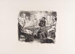 Max Beckmann – Das Abendmahl aus: Sechs Lithographien zum neuen Testament