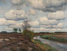 Wilhelm Fritzel – Heidelandschaft mit Bachlauf