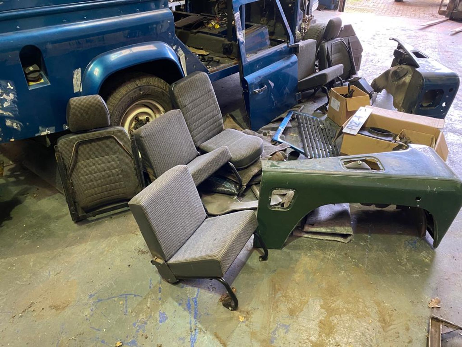 Land Rover 110 County, 300 TDI Engine Appears Mostly Complete - No Bumper, Bonnet, Glass etc As - Image 8 of 26