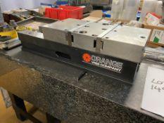 "Orange Vise Company 6 x 17.5"" CNC Machine Vice with Orange Carve Smart Quick Change Jaws, New"