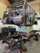 Land Rover 110 County Being Fitted on New Galvanised Chassis. Engine & Other Parts Not Present -