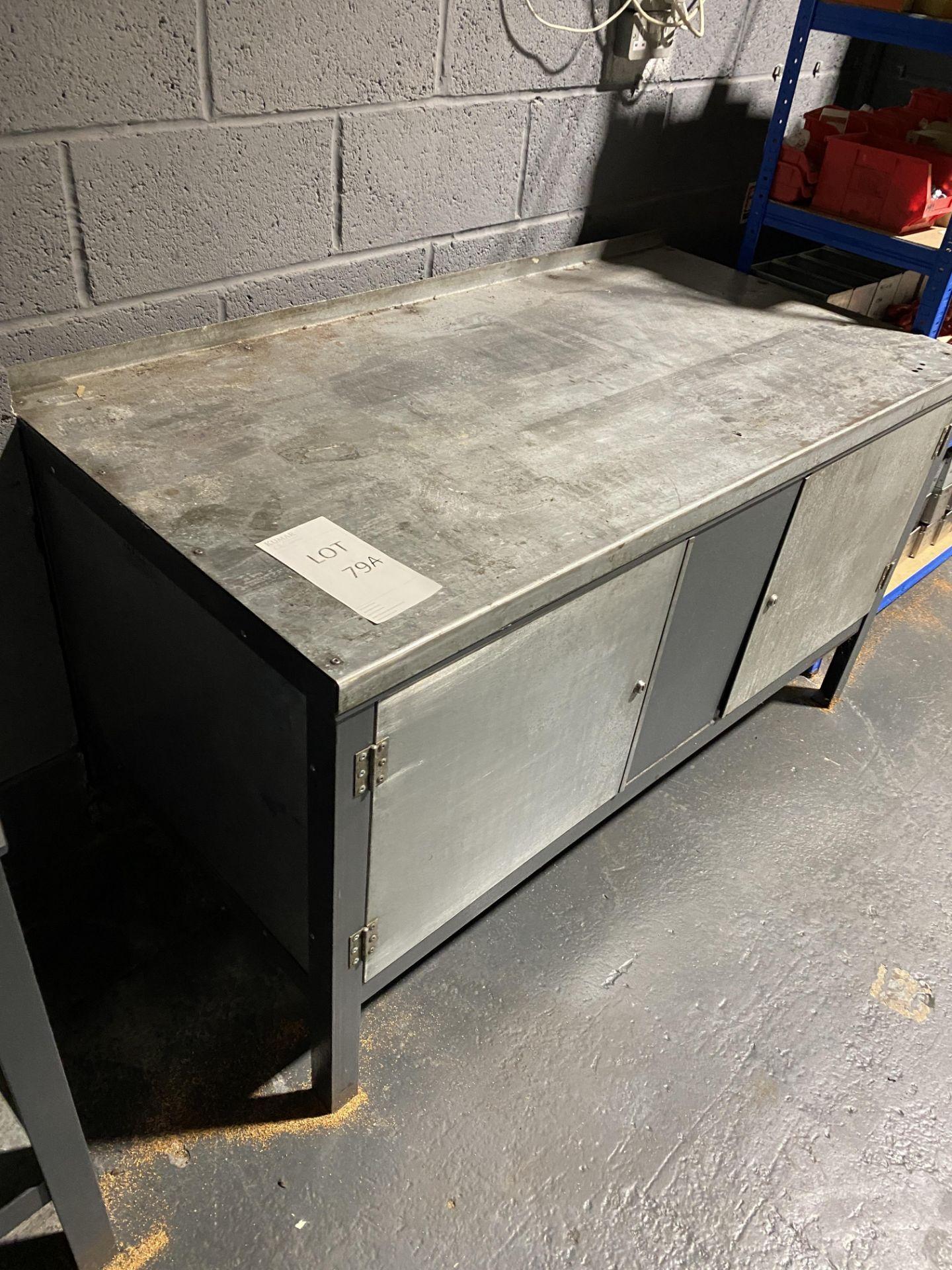 Metal Workbench/Cupboard - Image 2 of 3