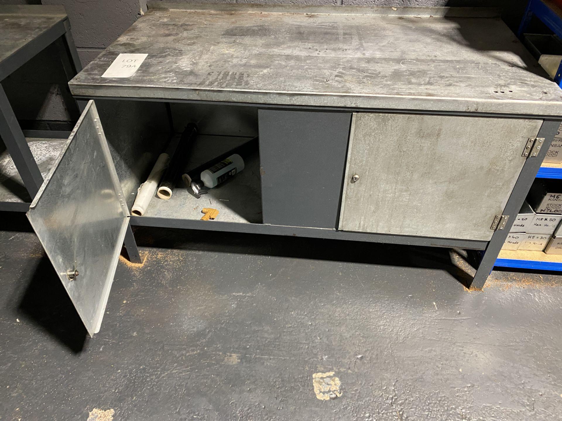 Metal Workbench/Cupboard - Image 3 of 3