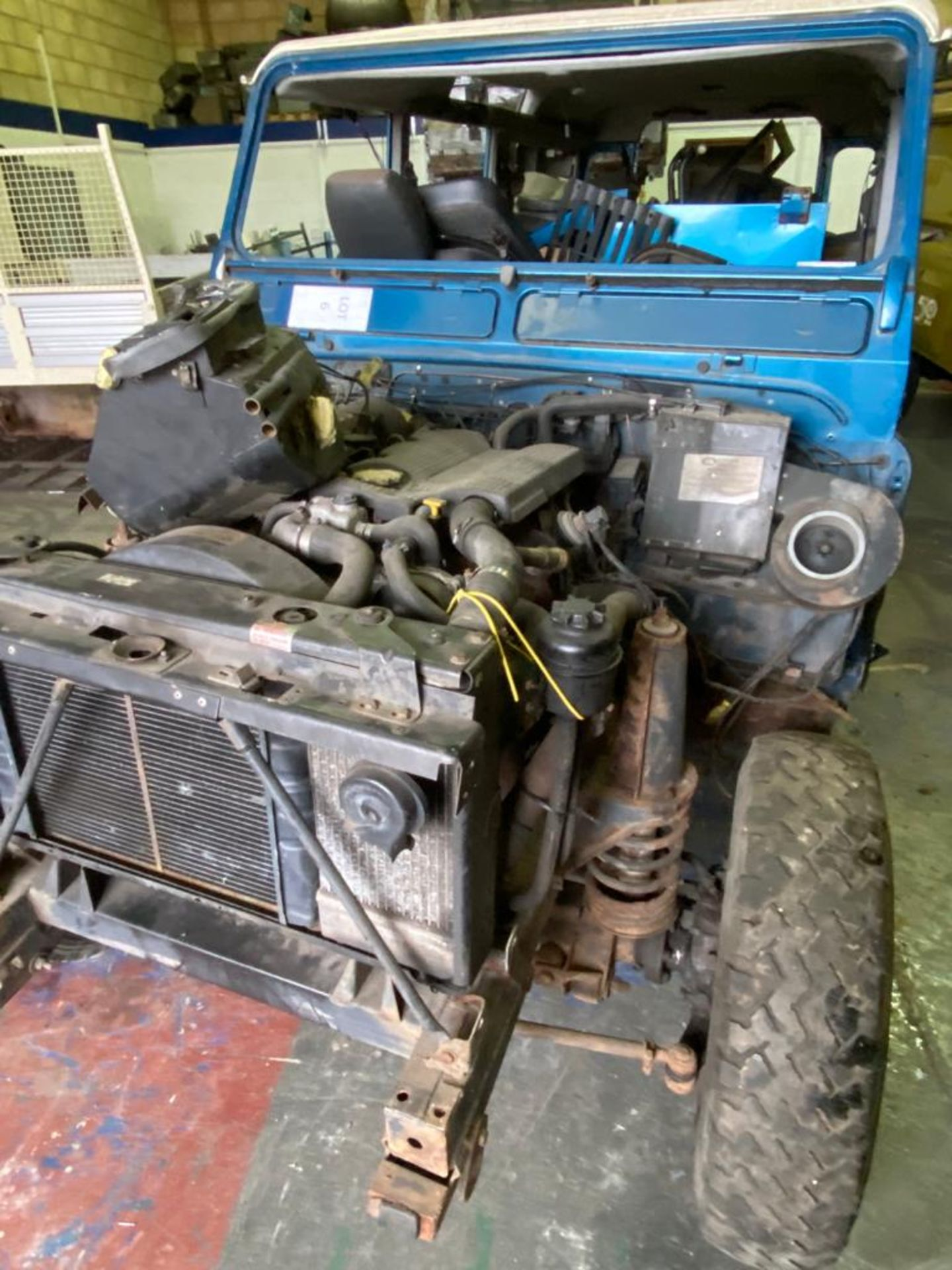 Land Rover 110 County, 300 TDI Engine Appears Mostly Complete - No Bumper, Bonnet, Glass etc As - Image 25 of 26
