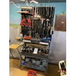 Tool Stand & Board complete with Tools as shown to include Cutting, Milling Attachments. Tooling