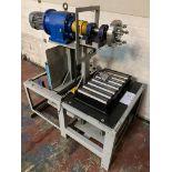 Make Unknown Fabricatedn Bead Lock Tyre Fitting Machine 3 Phase Electric Wheel Rotation Hydraulic
